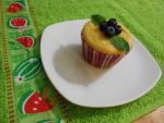 cornmeal muffin with blueberries by ailgara