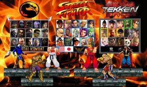 MK X SF X TK Character Select Screen by Gery850