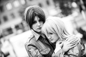 I'll protect you - Ymir and Christa by TheCarebearFag