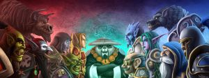 Warcraft - Horde and Alliance by handclaw