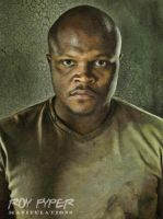 The Walking Dead: T-Dog: Oil Paint Re-Edit by nerdboy69