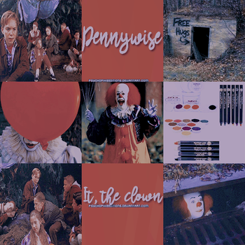 Pennywise. It, the clown {Moodboard} by PsychoPixieEditions