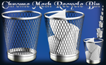 Chrome Mesh Recycle Bins by Elmer-BeFuddled