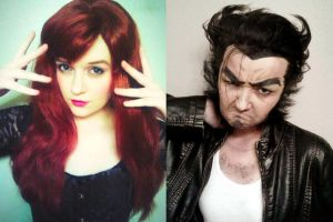 Jean and Logan - X-Men Makeup Test by xHee-Heex