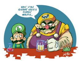 Wario and Luigi by kevinbolk