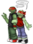 Can you not sis!? +Raph and Ruth+ by Hot-Head-Turtle