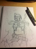 Boba Fett WIP by lucious666