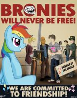 Bronies Will Never Be Free by wolfjedisamuel