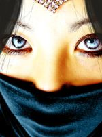 dark ninja girl blue eyes by rustty
