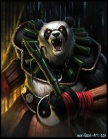 Panda Warrior - Panda form by RogierB
