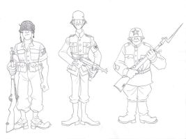 Stereotypical Soldiers by AngusMcLeod