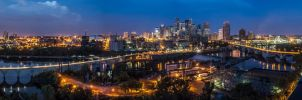 Blue Hour Panorama by 5isalive