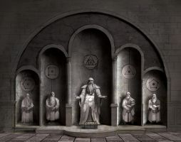 Salt Hall - Green Chamber Statue Wall by dasomerville