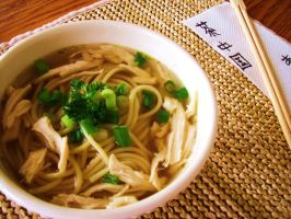 Japanese Chicken Noodle Soup by EmoHoodieDude
