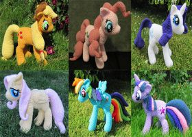 My Little Pony Crochet by NerdyKnitterDesigns