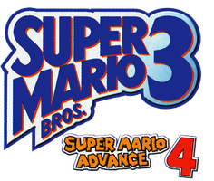 Super Mario Advance 4 Super Mario Bros 3 beta logo by RingoStarr39
