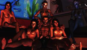 Shepard's harem by MintoFoularis