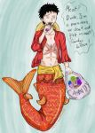 Luffy Mermaid!AU by lemm-chan