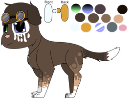 Sky Dogs: Drips Ref Sheet by PunctualFox