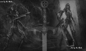 Live by the Blade, Die by the Blade by GLAD0Sisaspy