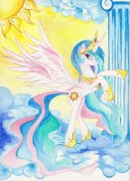 princess_celestia_water_colour by artist-apprentice587