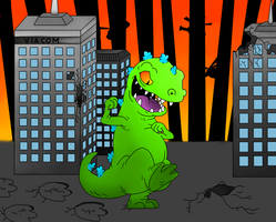 Reptar, King of the Ozone by BoltsGirl