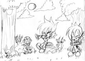 Aaron: forest boogie sketch by Armonsterz