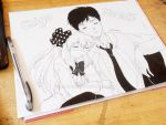 Chiyo and Nozaki Traditional art by Mildemme