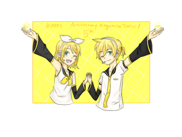 HBD Rin and Len by KatarinaNoNeko
