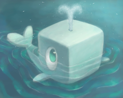 whale cube by Cortoony