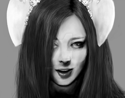 f(x) Sulli Red Light speed painting by CatThatEatsDogs