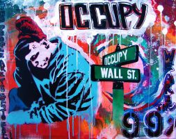 Occupy Wall St by abcartattack