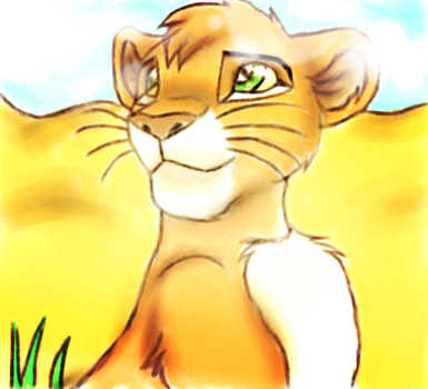 Mtoto - Simba's cousin by Inquistor-chan