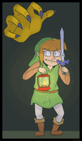 Scaredy Link by Hofftits