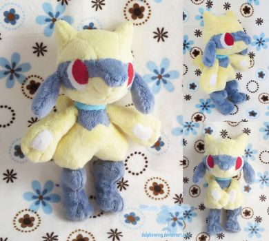 Shiny Riolu Poketime style plush by dollphinwing
