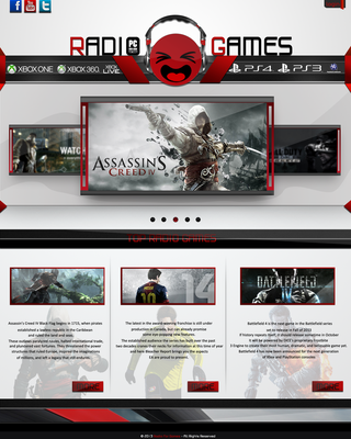 Web Design Radio Games by AhMeD-MaHdY
