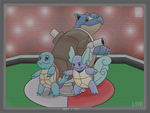 Squirtle, Wartortle and Blastoise by AlEiselle