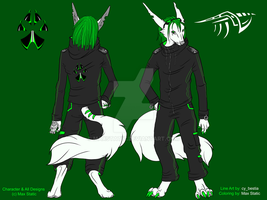 Max Static - Ref Sheet [Anthro] by MaxStatic