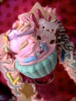 Sprinkle Teddy Cupcake Ring by prettypop