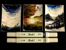 ACEO #30 - #32 6,4 x 8,9 cm (2,5 x 3,5 zoll) by V0IDsKhaos