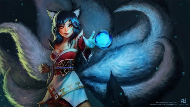 Ahri the Nine-Tailed Fox by patrickdeza