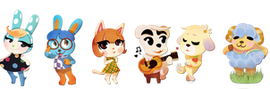 lil' villagers by Pharaoh-Ink