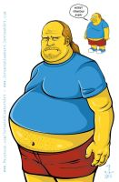Comic Book Guy - 2013 April Art Jam by JeremiahLambertArt