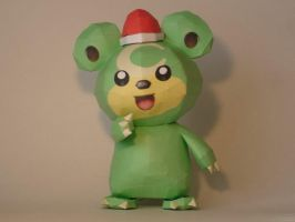 Teddiursa Papercraft by Skele-kitty