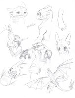 Toothless sketches by yamilink