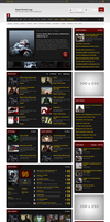Game News Portal Template PSD by SynPredator