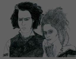 Sweeney Todd and Mrs. Lovett by AbigailWarrior