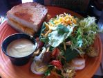 Grilled cheese and salad by AnaturalBeauty