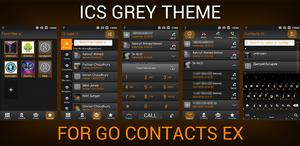 Go Contacts ICS Remix Grey Theme by retareq