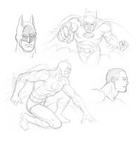 Batman and heads by Almayer